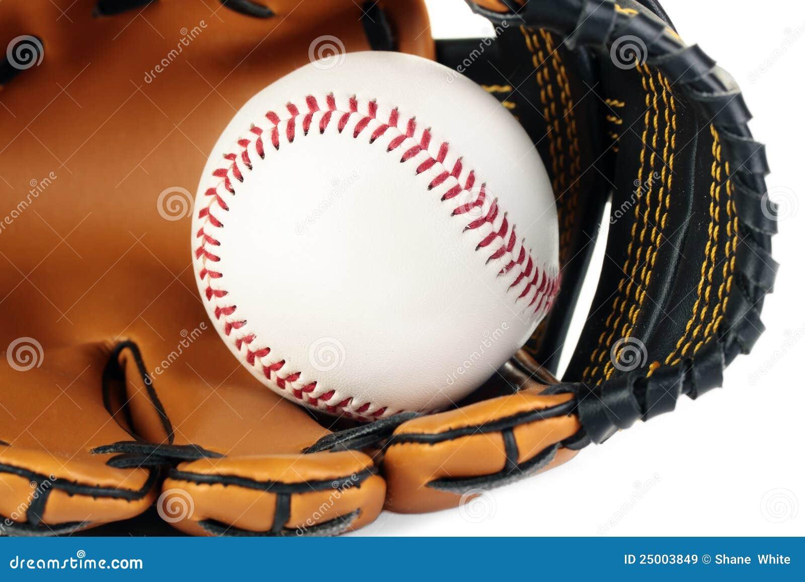 Baseball und Handschuh.