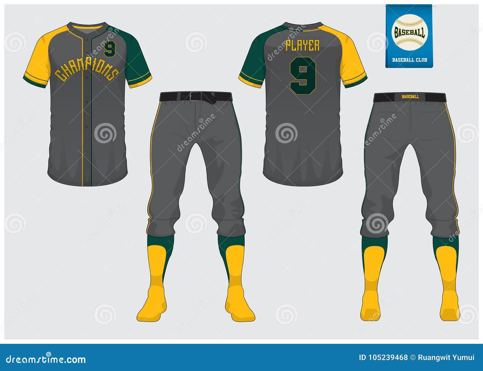 baseball uniform sport jersey t shirt sport short sock template