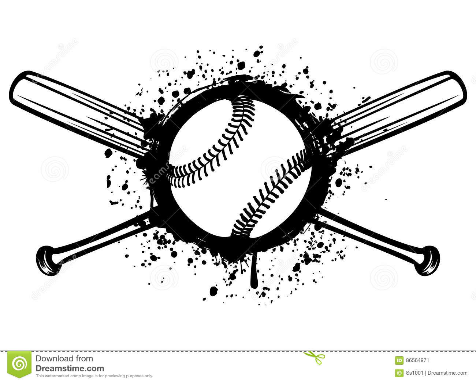 Baseball 1 stock vector. Illustration of pitch, insignia ...
