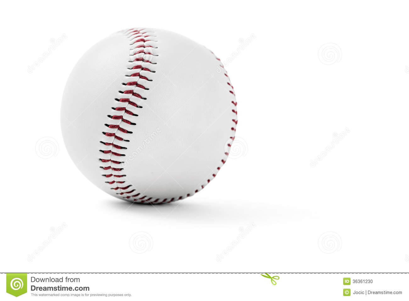 Baseball on white background with clipping path.