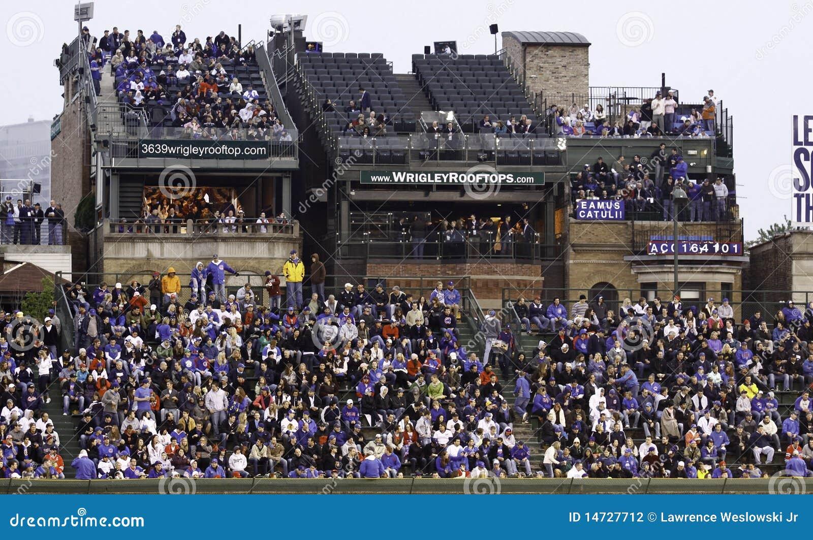 Baseball Wrigley Field S Roof Top Seats Editorial