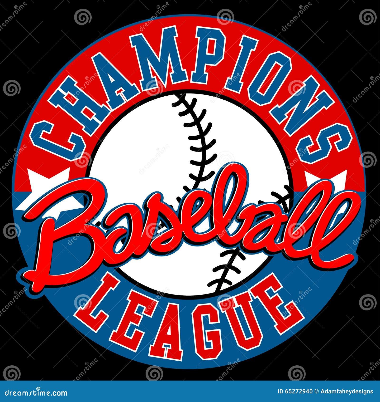 Baseball Wstawia się liga znaka z piłką