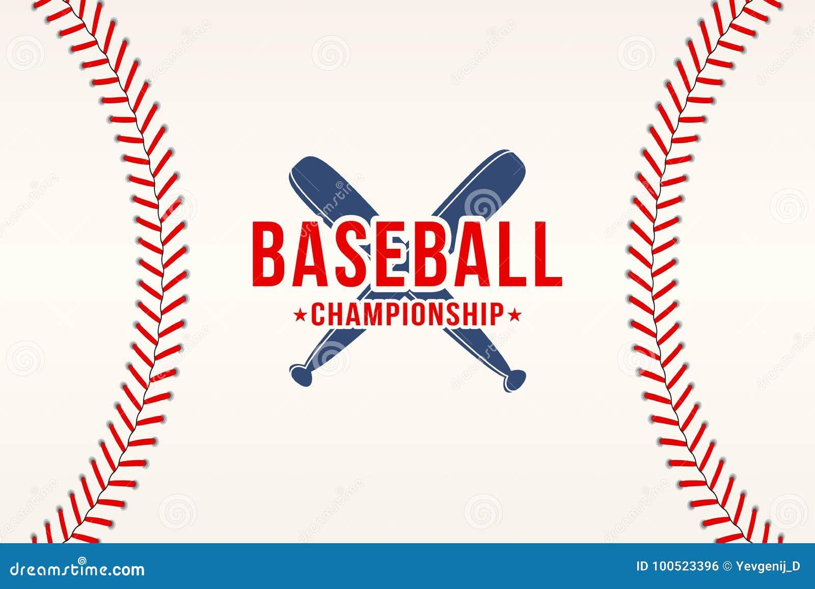 Baseballa tło Baseball piłki koronki, ścieg tekstura z nietoperzami