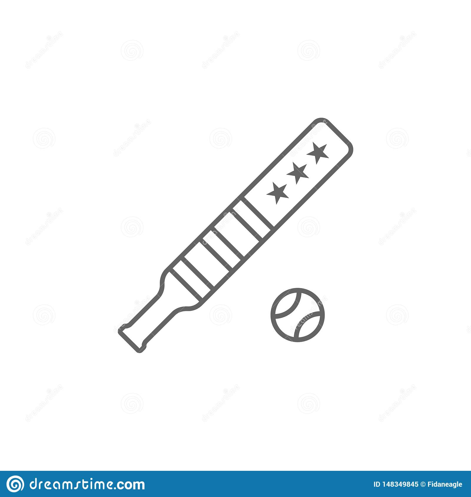 Baseballa usa konturu ikona Znaki i symbole mog? u?ywa? dla sieci, logo, mobilny app, UI, UX