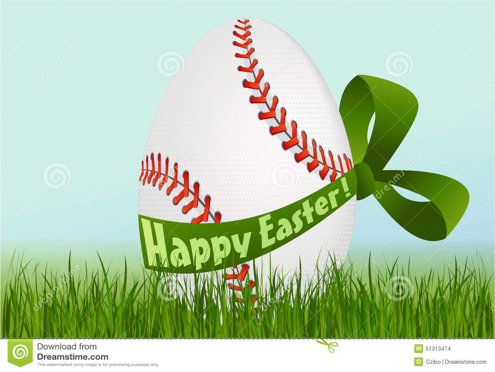 Baseballa Wielkanocny jajko