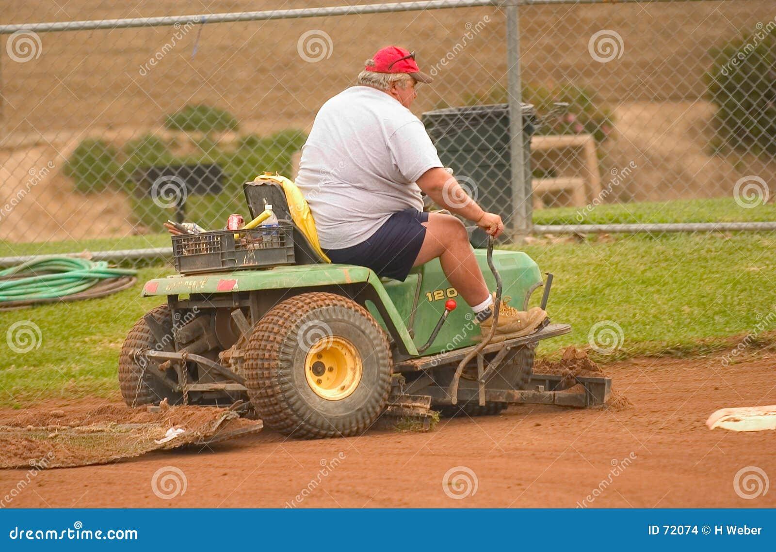 Baseballfältförberedelse