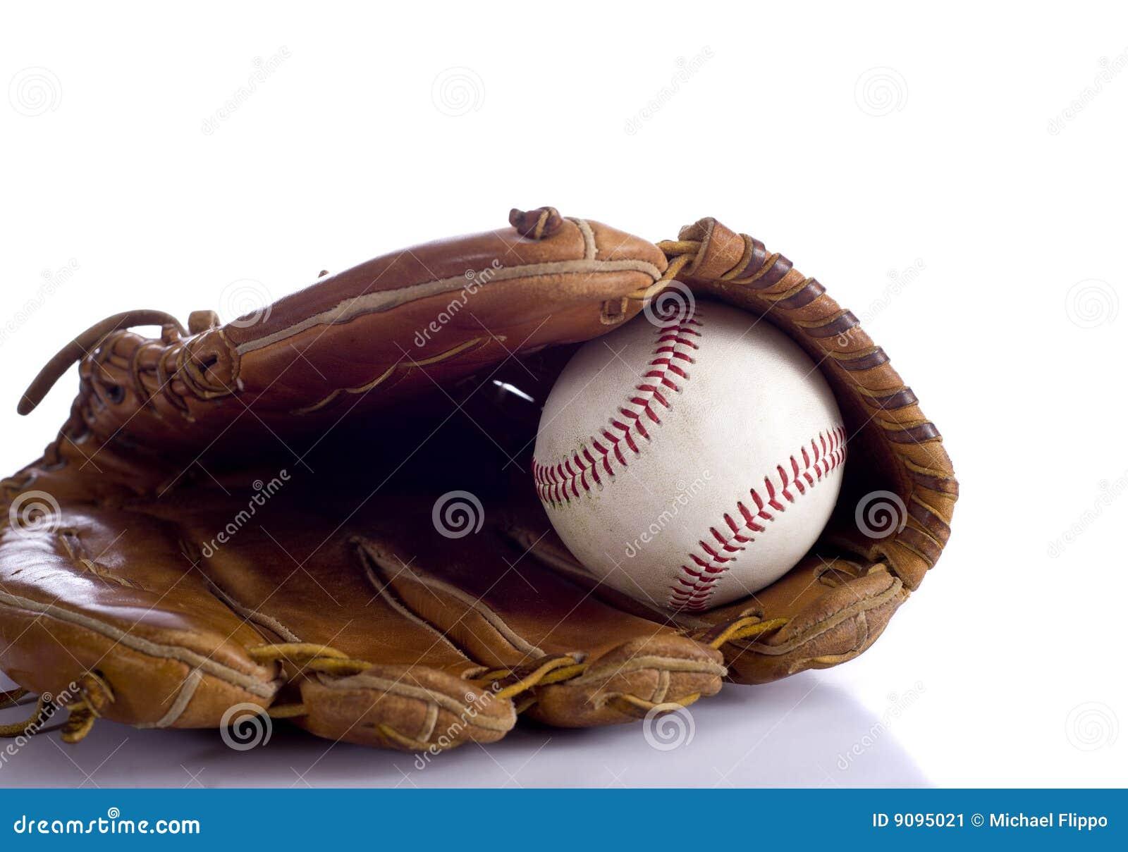 Baseballhandschuh und Kugel