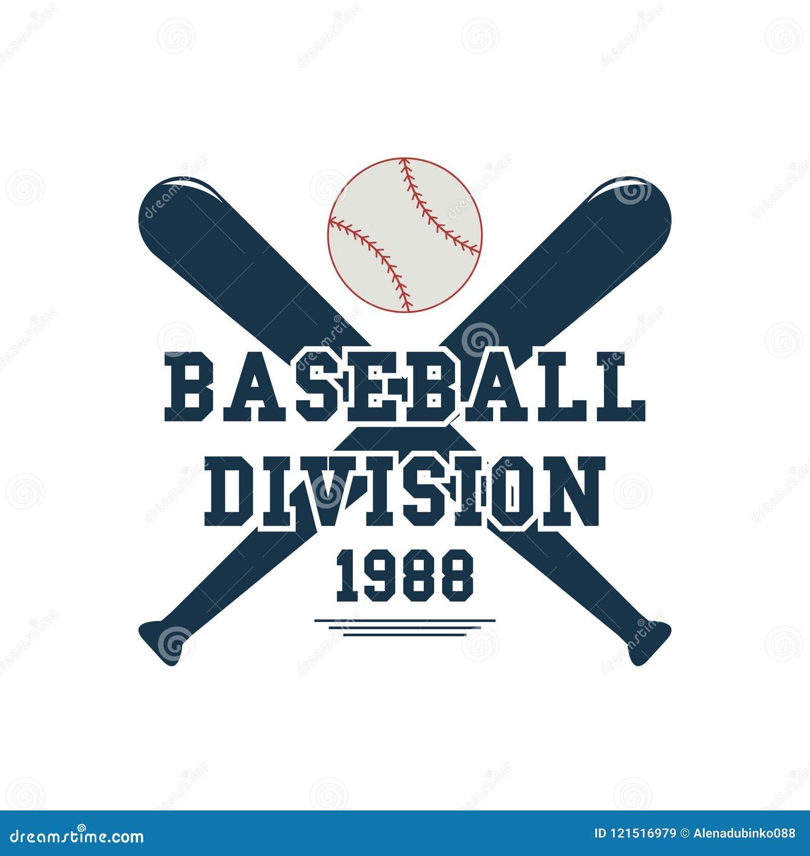 Baseballi kije bejsbolowi i piłka Sporta emblemat Sporta gemowy logo dla turnieju