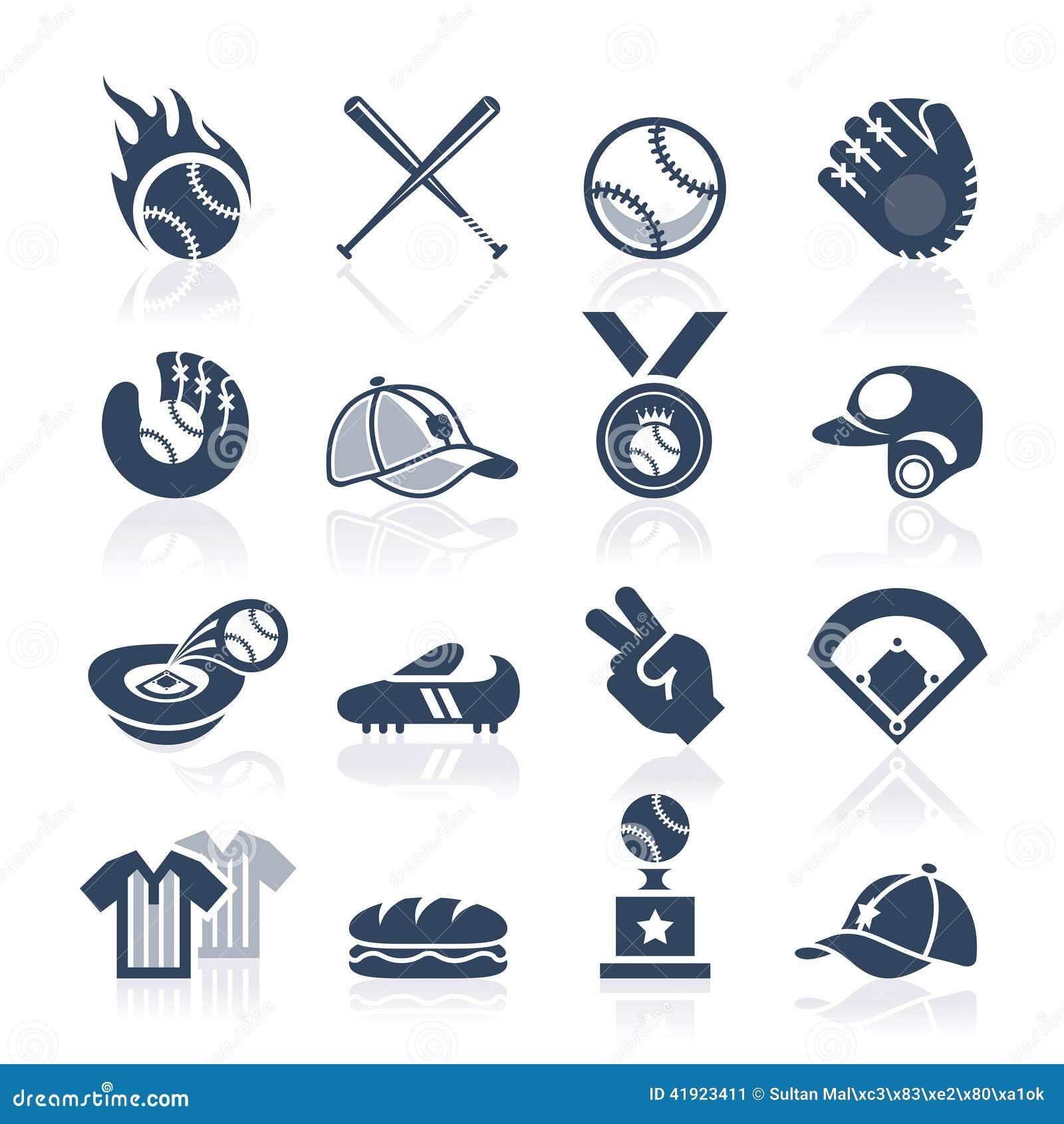 Baseballsymbolsuppsättning