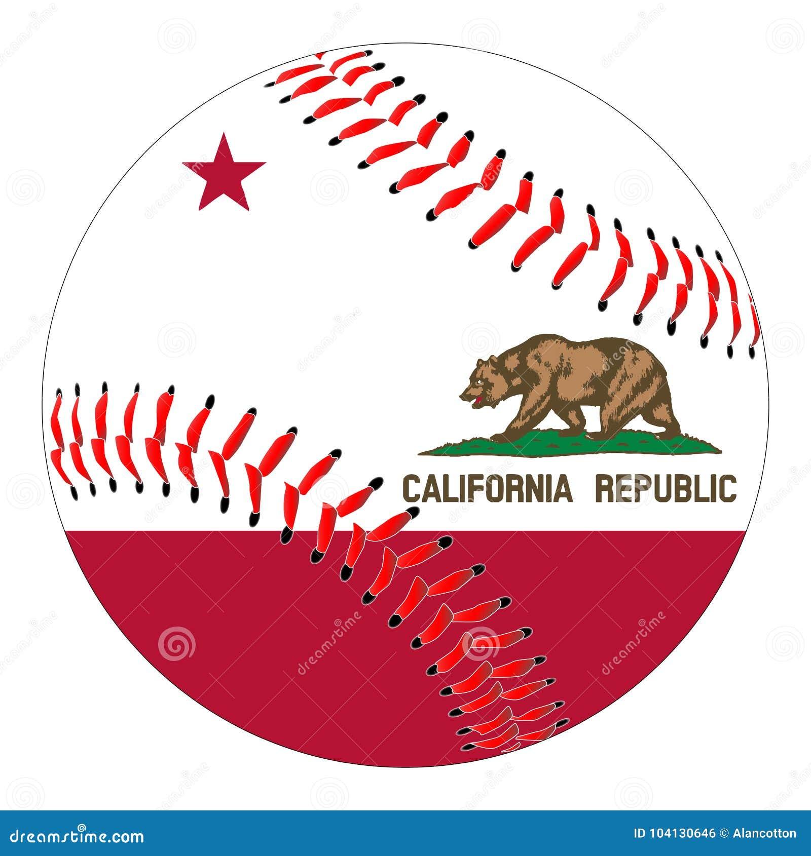 Basebol da bandeira de Califórnia