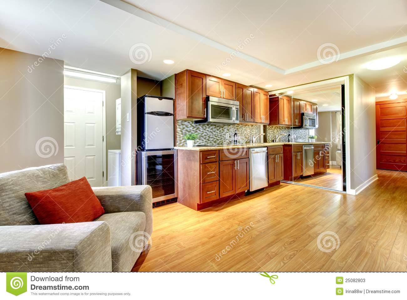 Modern Kitchen In A Luxury Apartment Royalty Free Stock