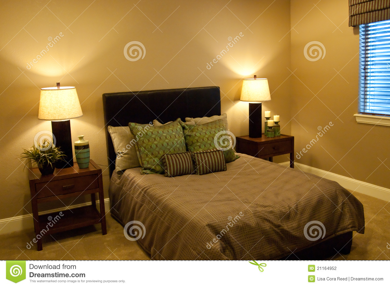 Basement bedroom stock photo image of design nobody for Small bathroom no natural light