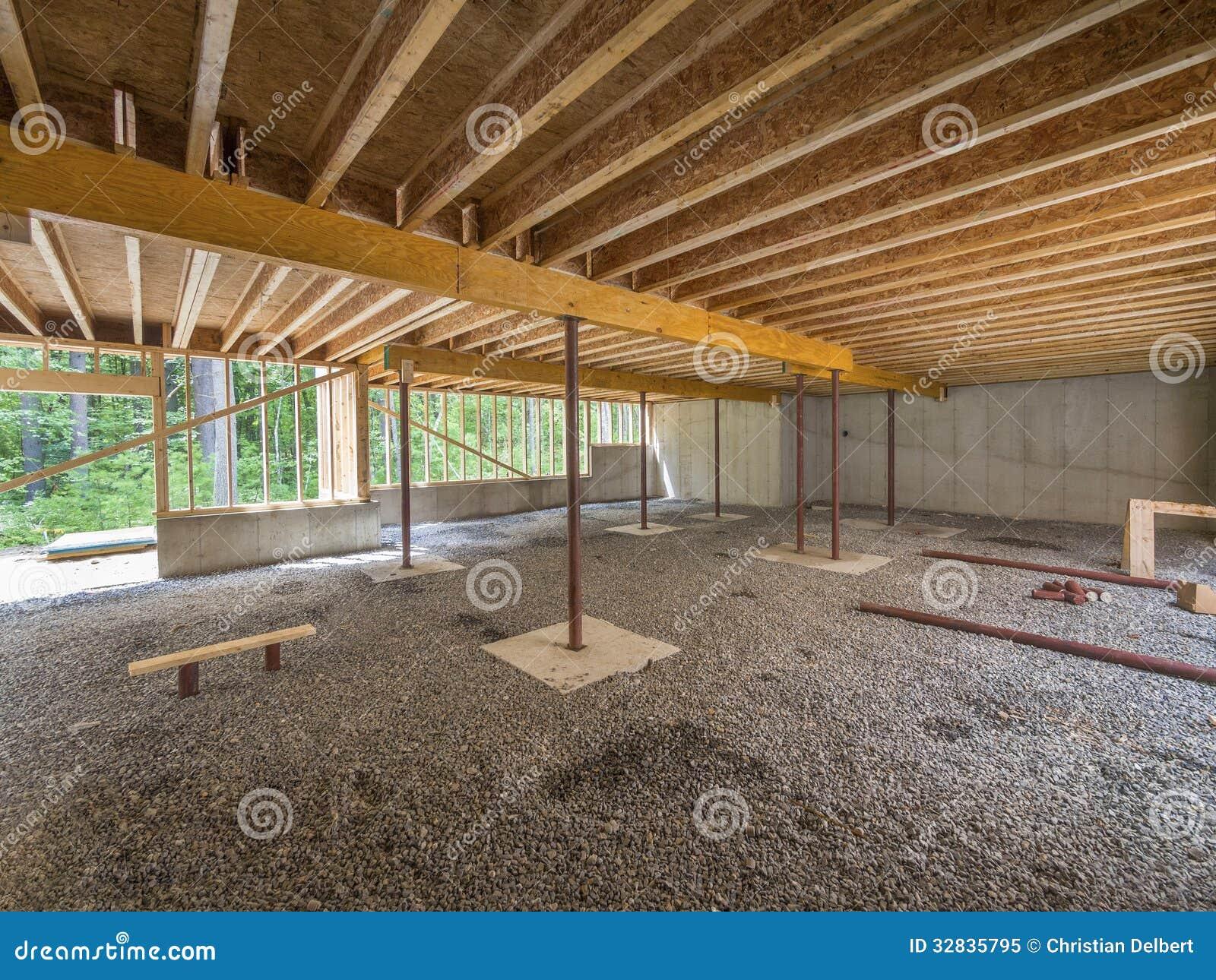 Basement construction under a new house stock image for Basement construction