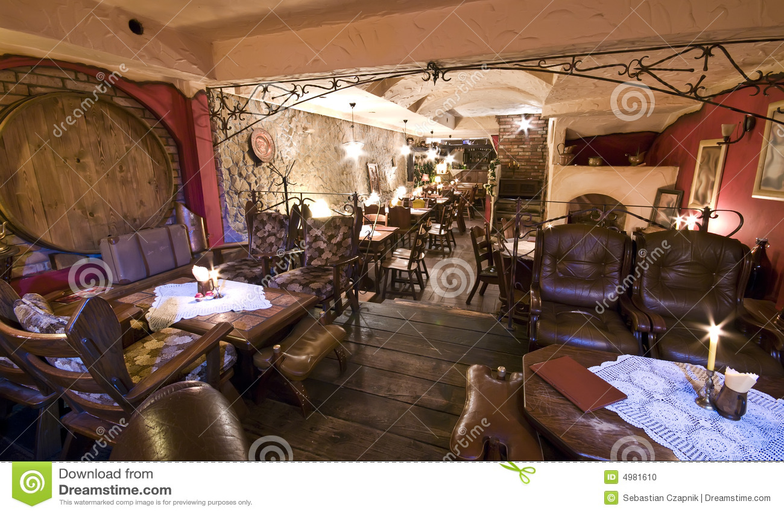 basement restaurant stock photo image 4981610