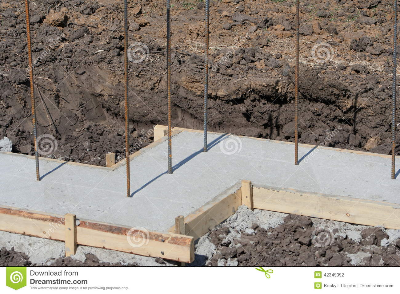 Basement wall foundation stock photo image of rebar for Basement forms