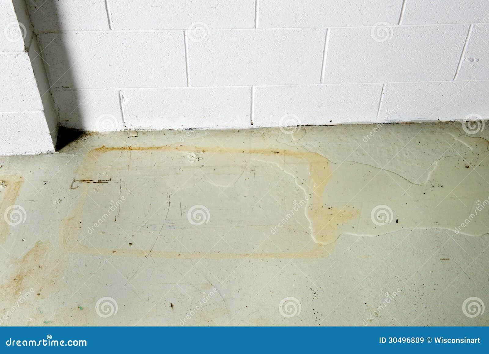 basement water seepage thru foundation seeping causing damage staining