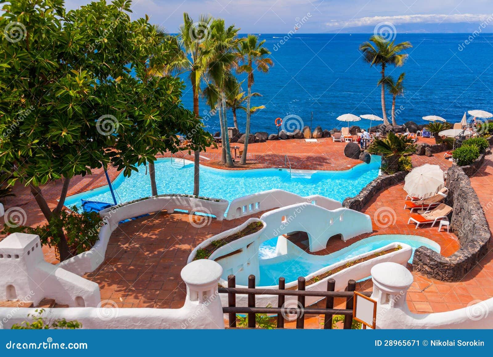 Basen przy Tenerife wyspą - kanarek