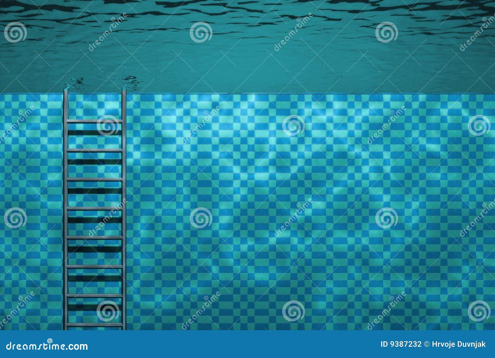 Basen sceny pływać podwodny