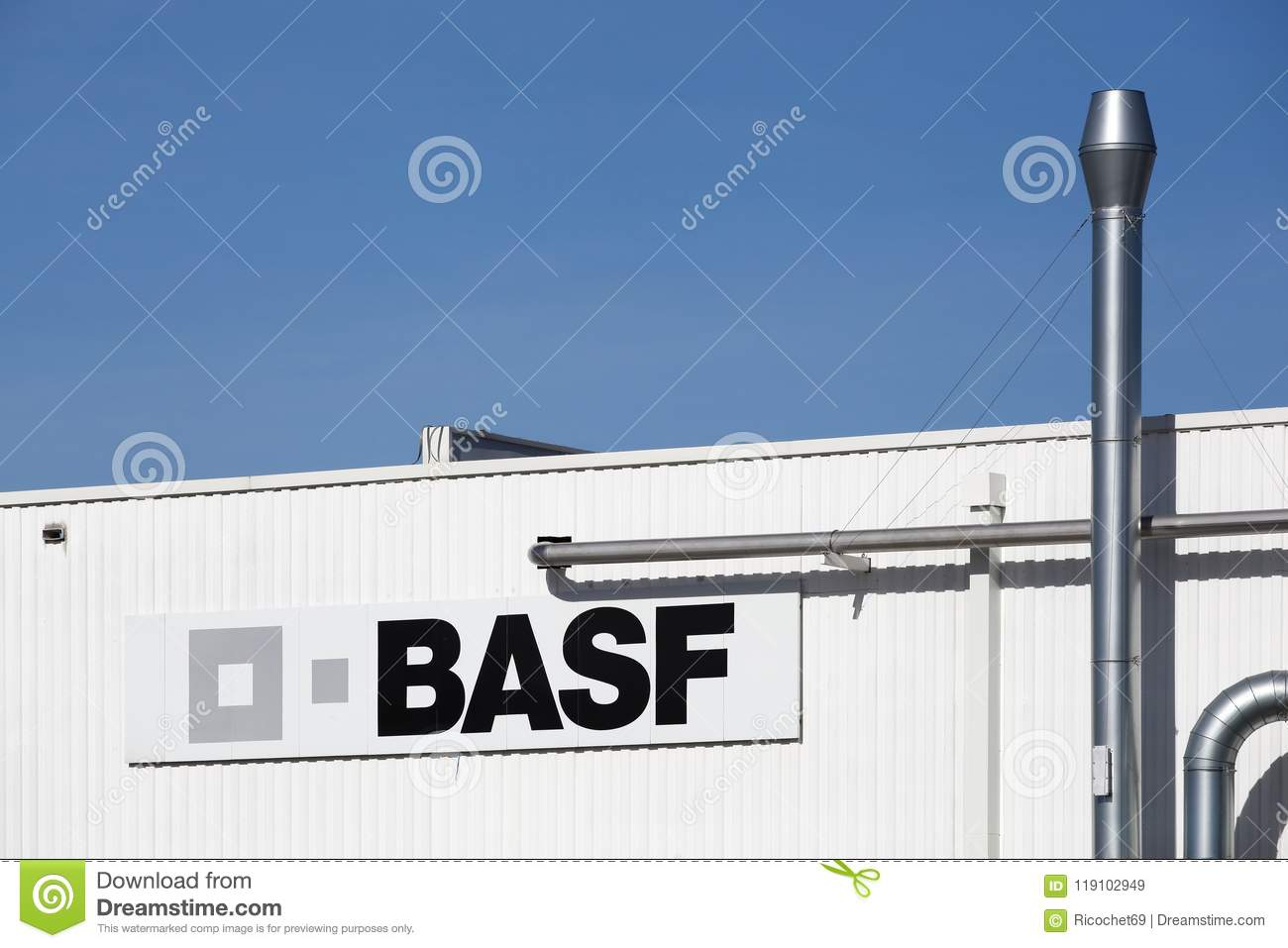 Basf Building And Factory Editorial Stock Image Image Of Symbol