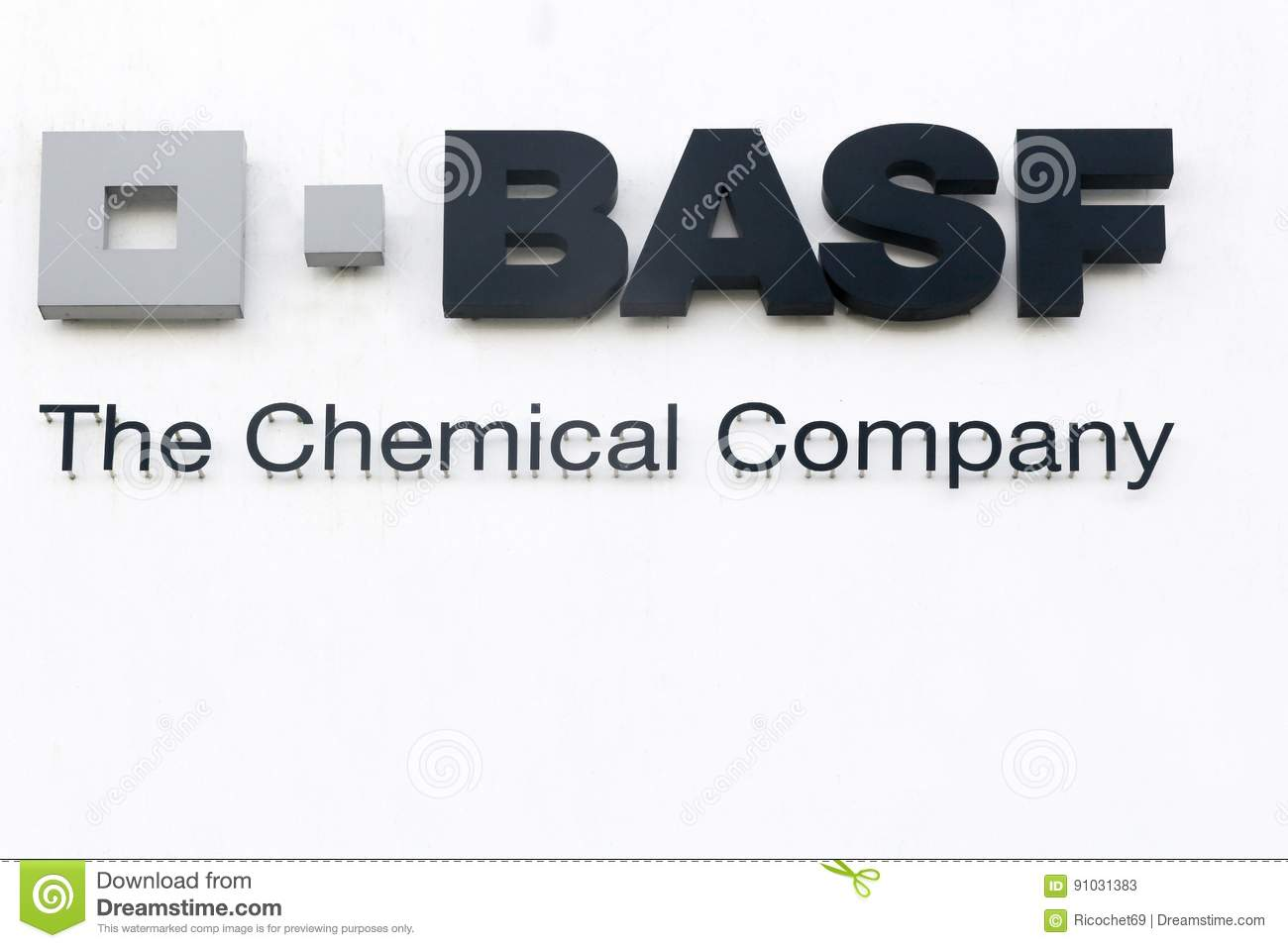 BASF logo on a wall editorial stock photo  Image of producer