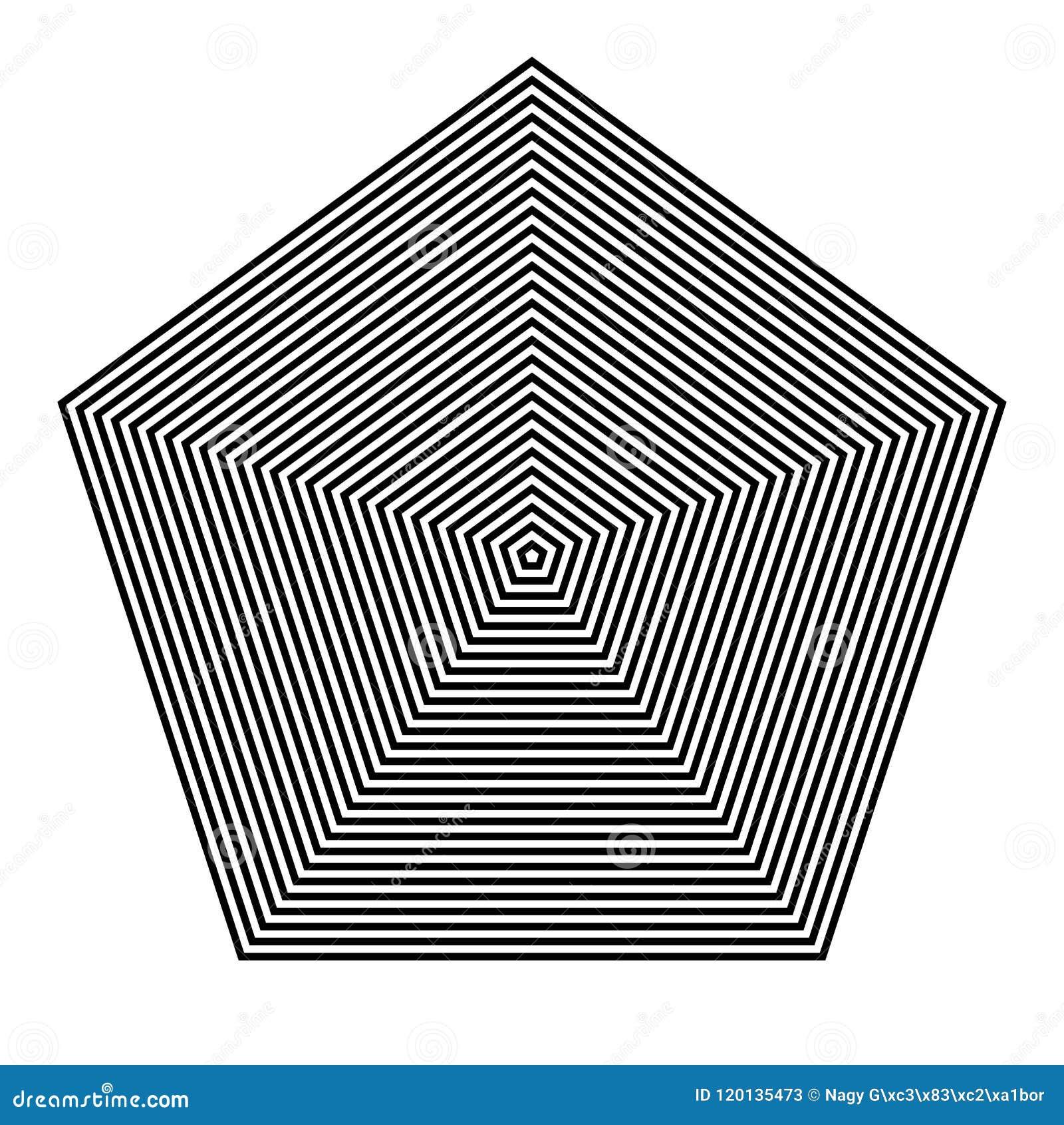 BASIC规则几何 图象要素 与五角大楼的平行的线