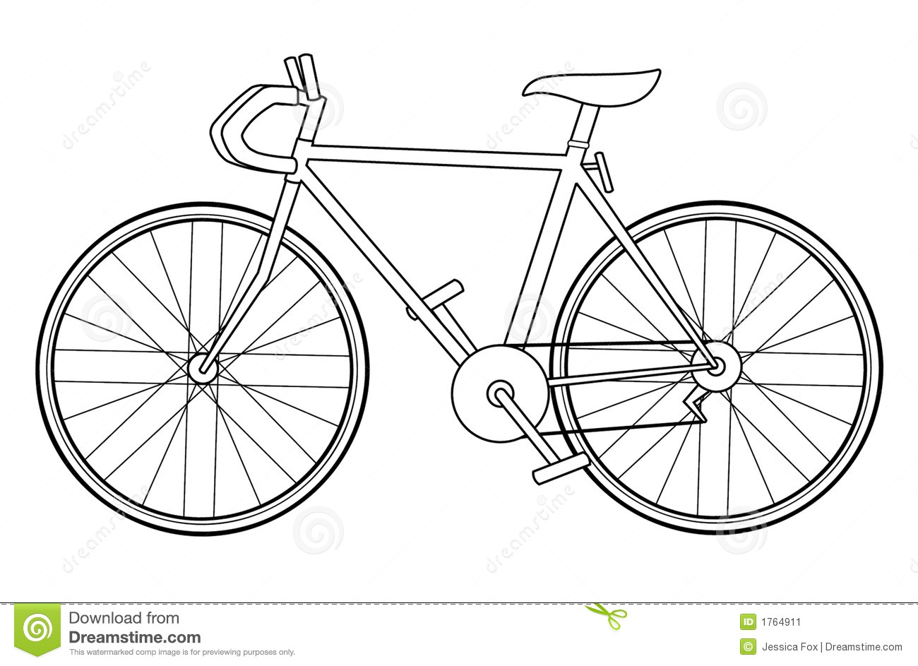 Simple bicycle illustration - photo#4