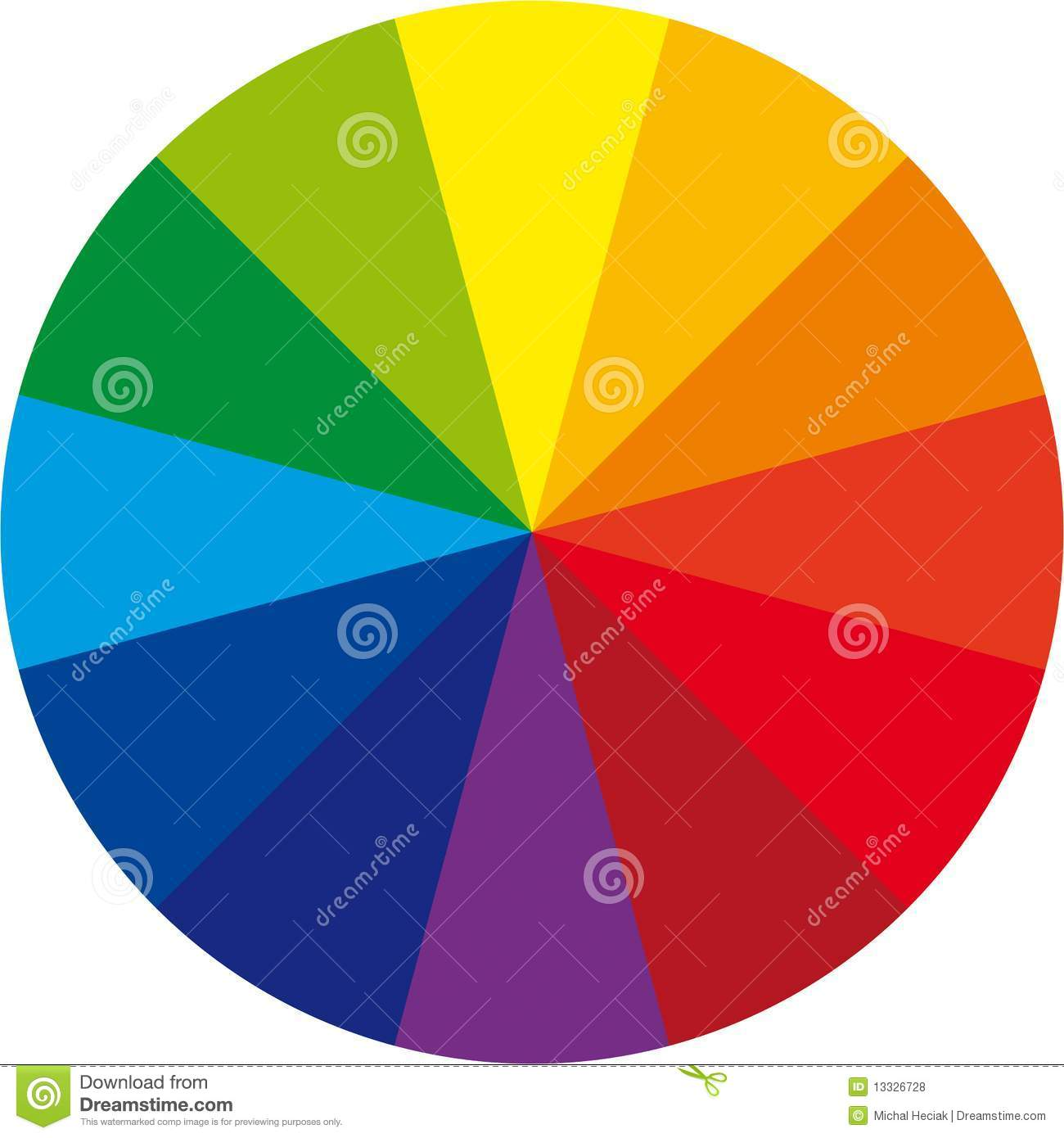 Basic Color Wheel Stock Vector Illustration Of Colour
