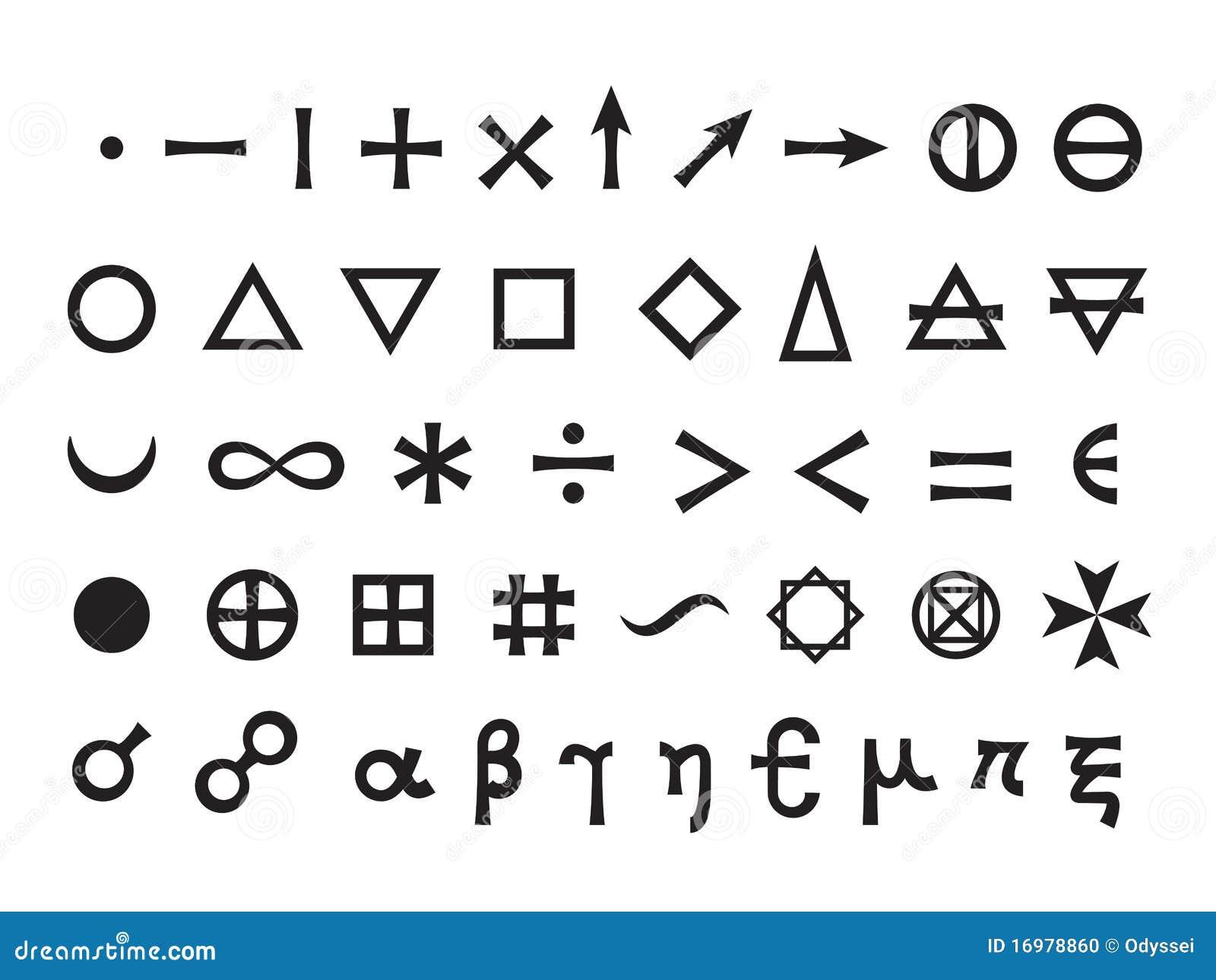 Basic elements and mathematical symbols stock vector basic elements and mathematical symbols biocorpaavc Gallery