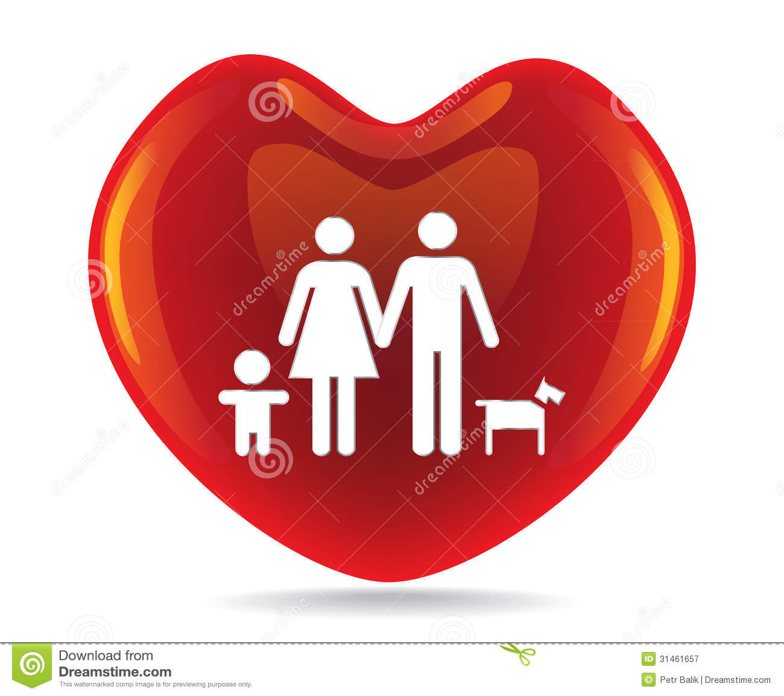 A basic family in big heart stock illustration illustration royalty free stock photo buycottarizona Image collections