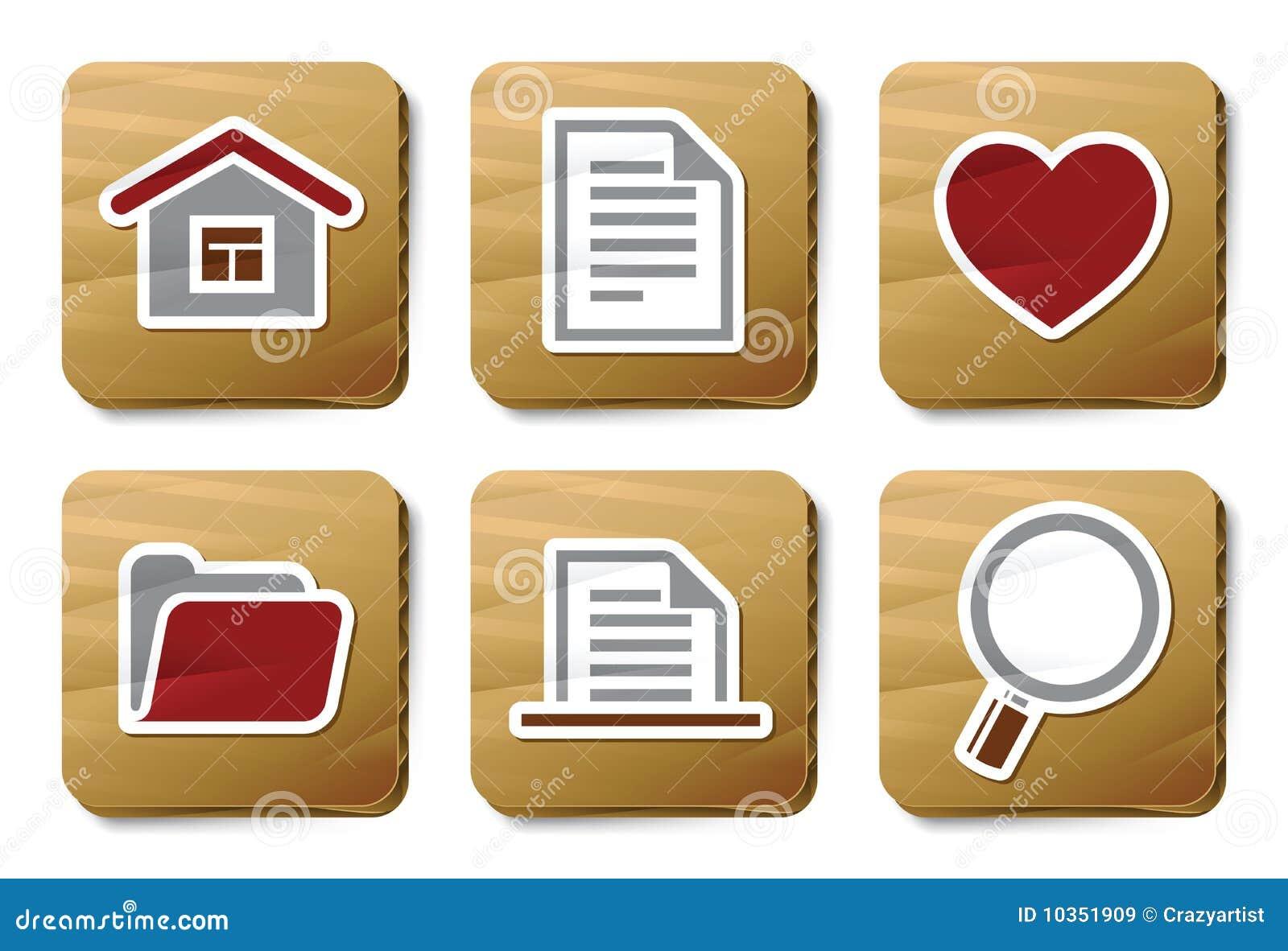 Basic icons | Cardboard series