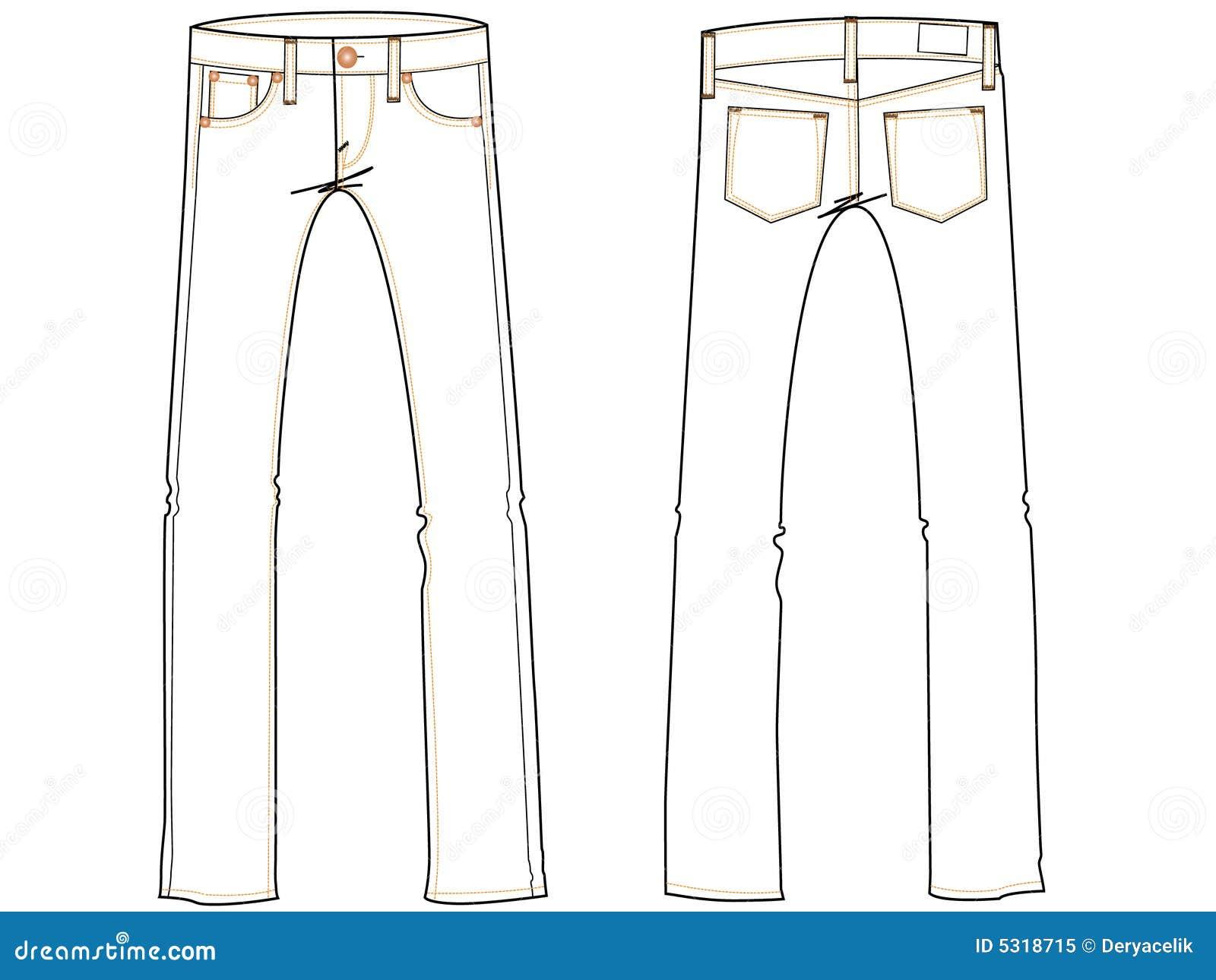 Basic Jeans Drawing Illustrati Royalty Free Stock Photo ...