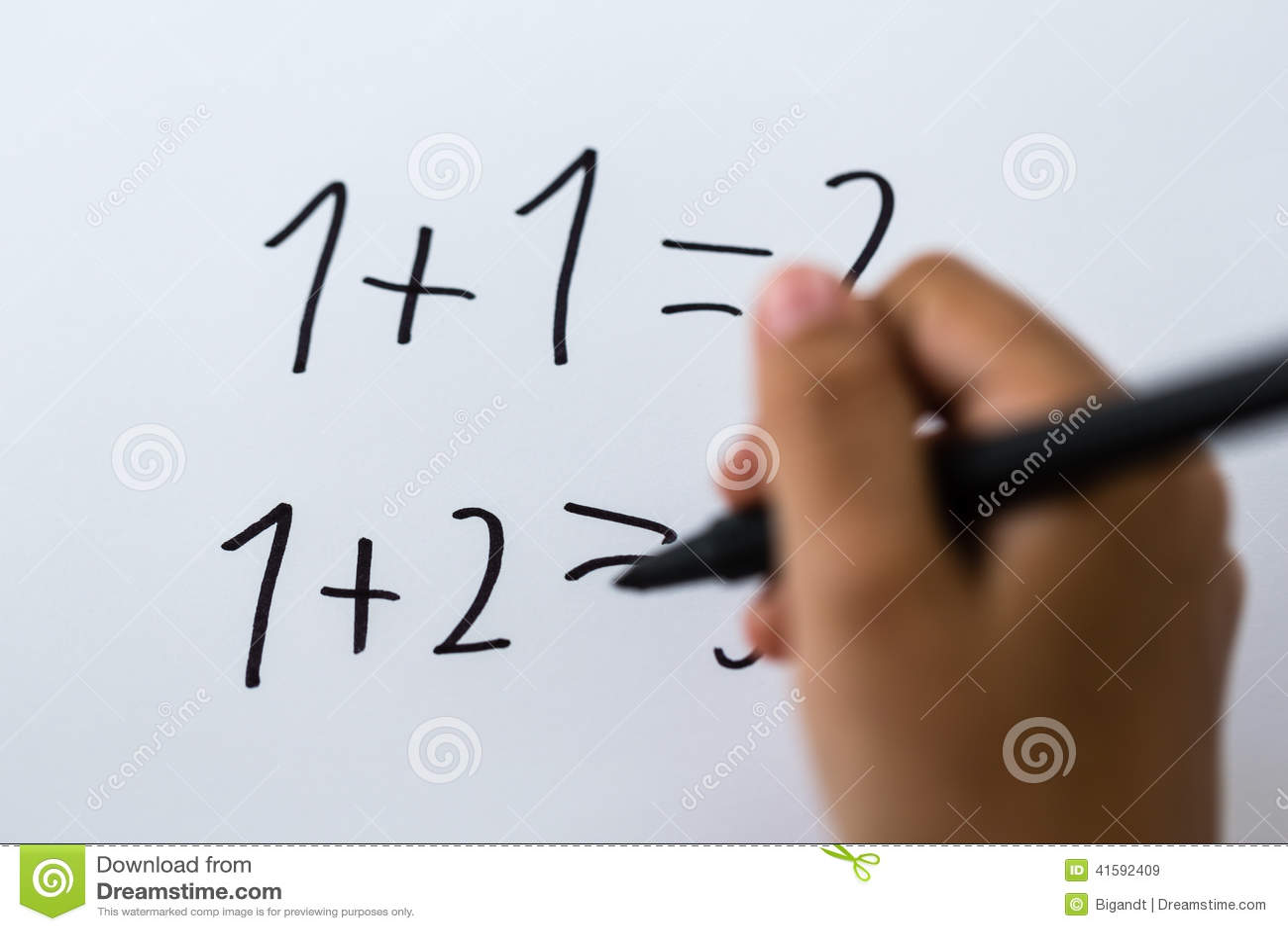 Basic math stock image. Image of math, practice, caucasian - 41592409