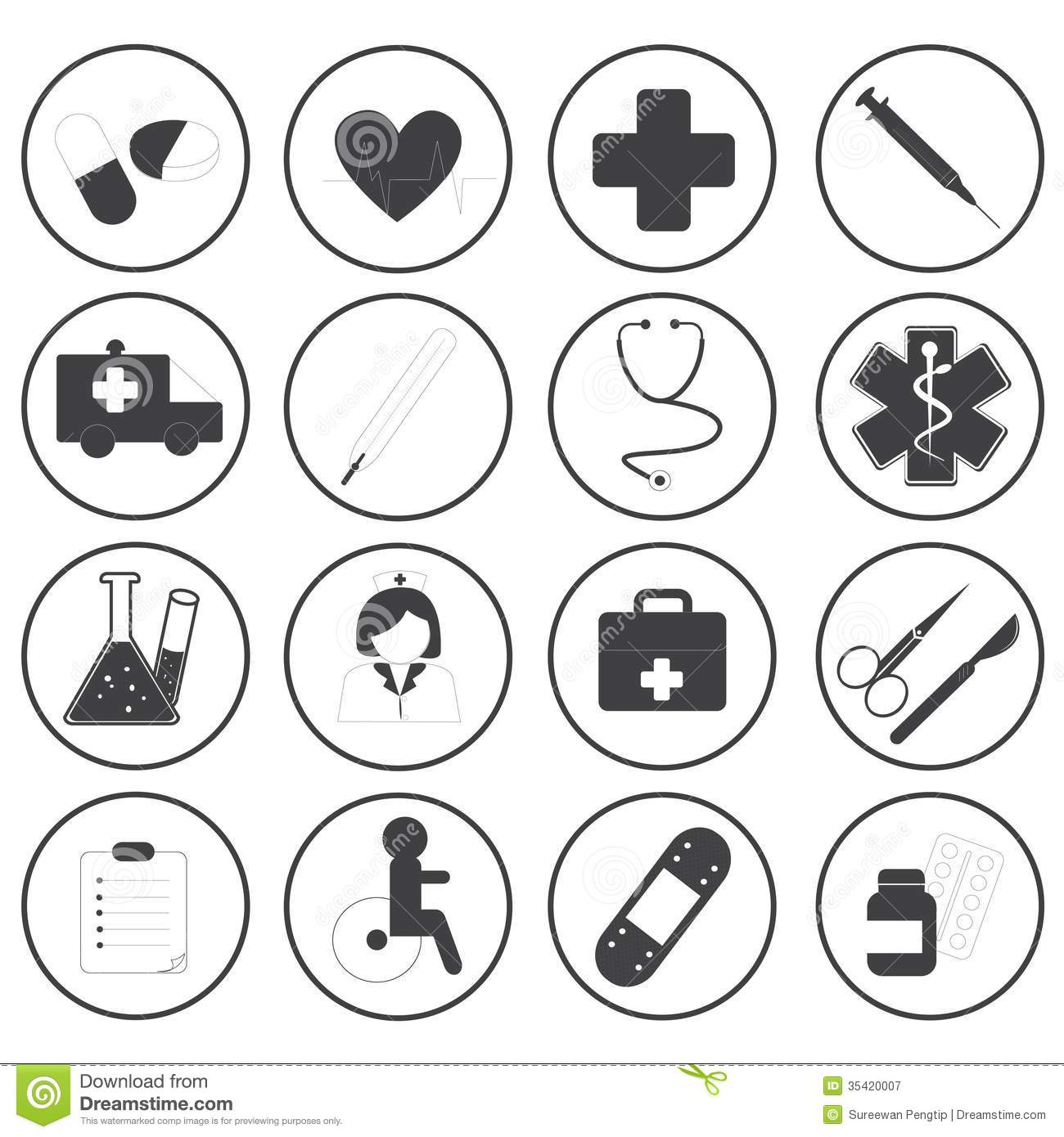 Basic Medical Icons Vector Collection Royalty Free Stock Photography ... Nursing Symbol Design