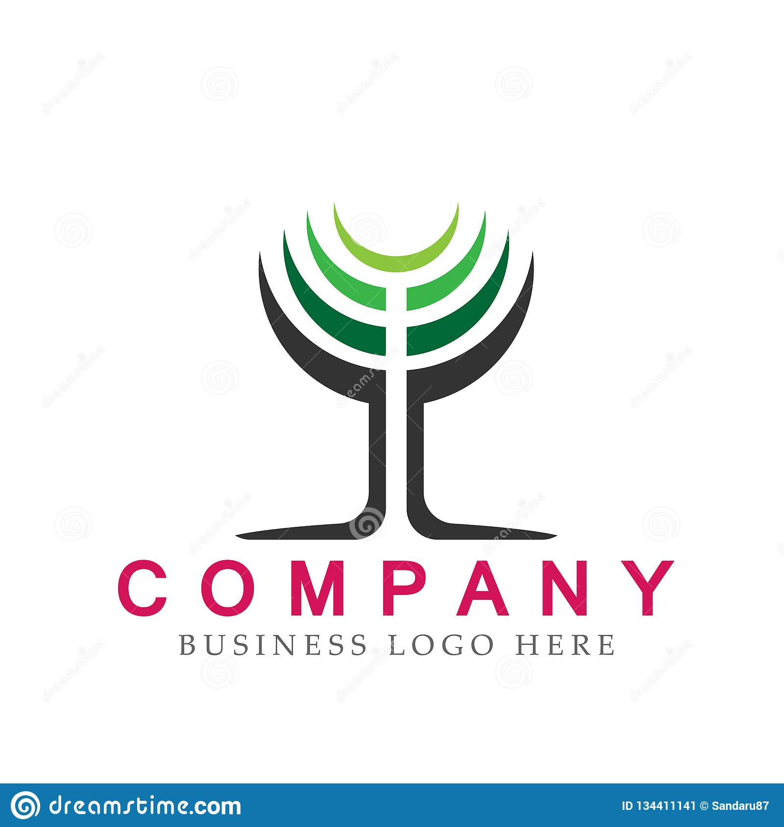 Abstract modern circle shaped tree logo icon element concept vector illustrations on white background