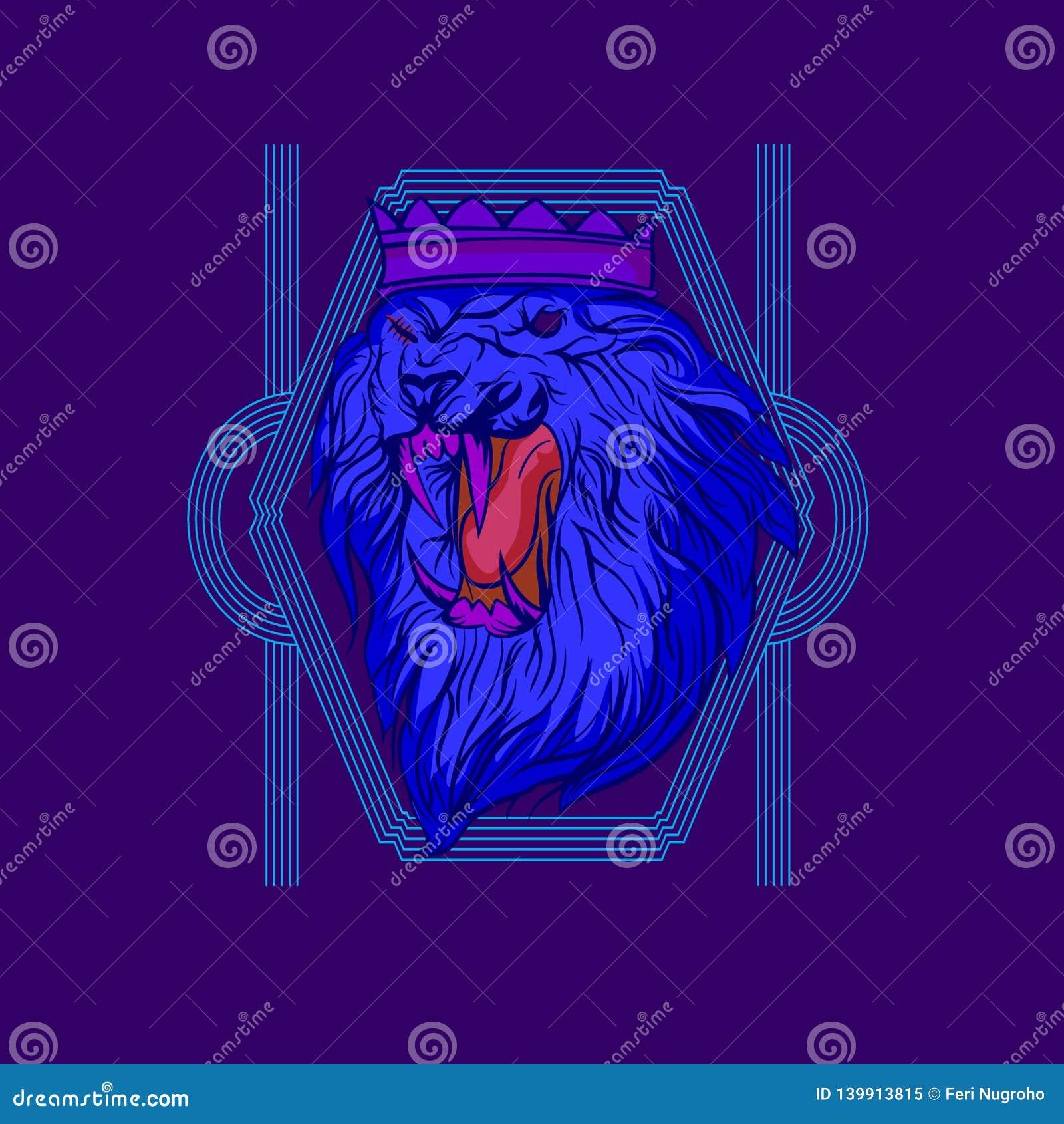 The Blue Lion Mascot
