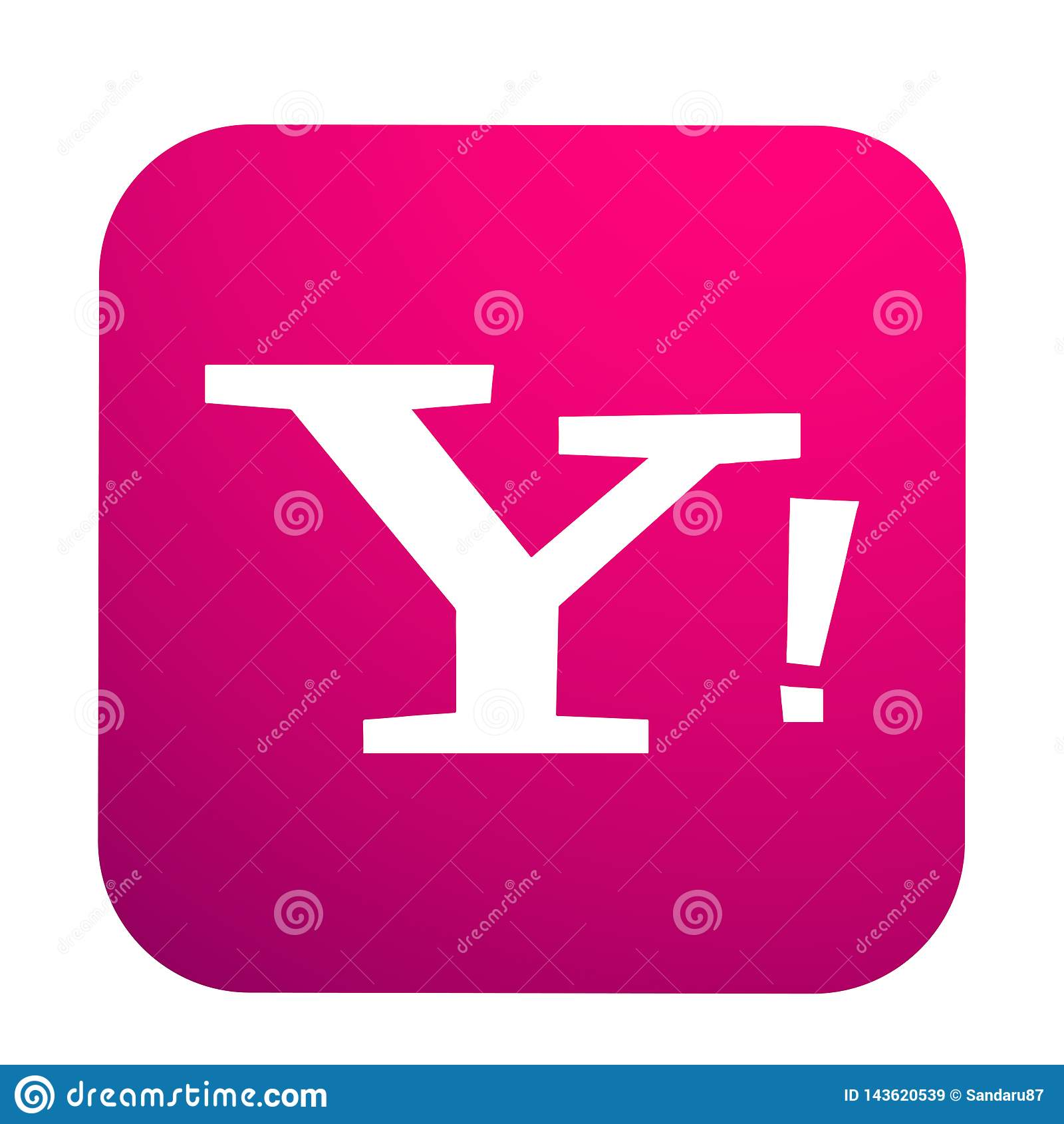Yahoo Mail Social Media Logo Button Icon In Vector With Modern Gradient Design Illustrations On White Background Editorial Stock Image Illustration Of Chat Display 143620539