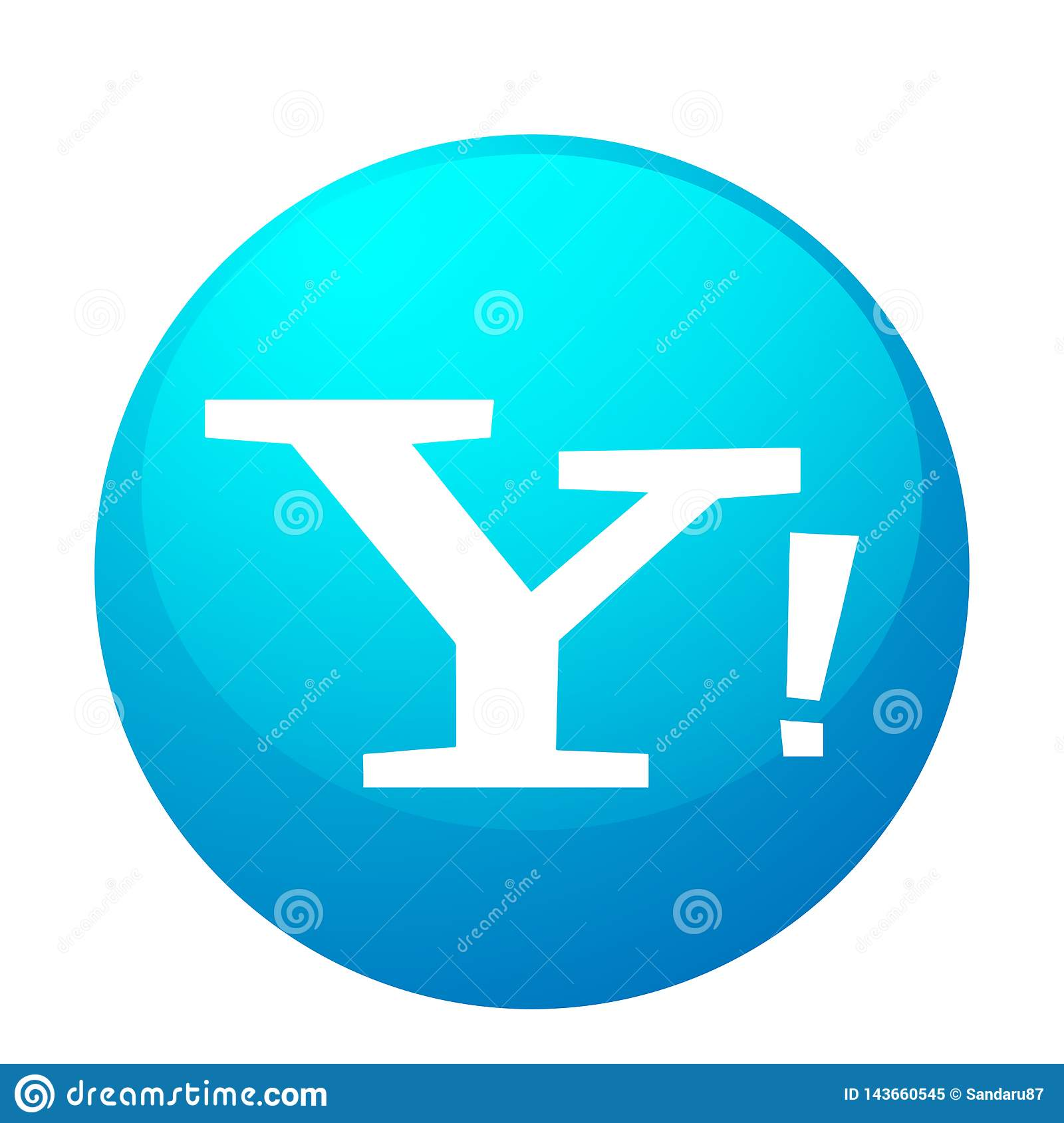 Yahoo Mail Social Media Logo Button Icon In Vector With