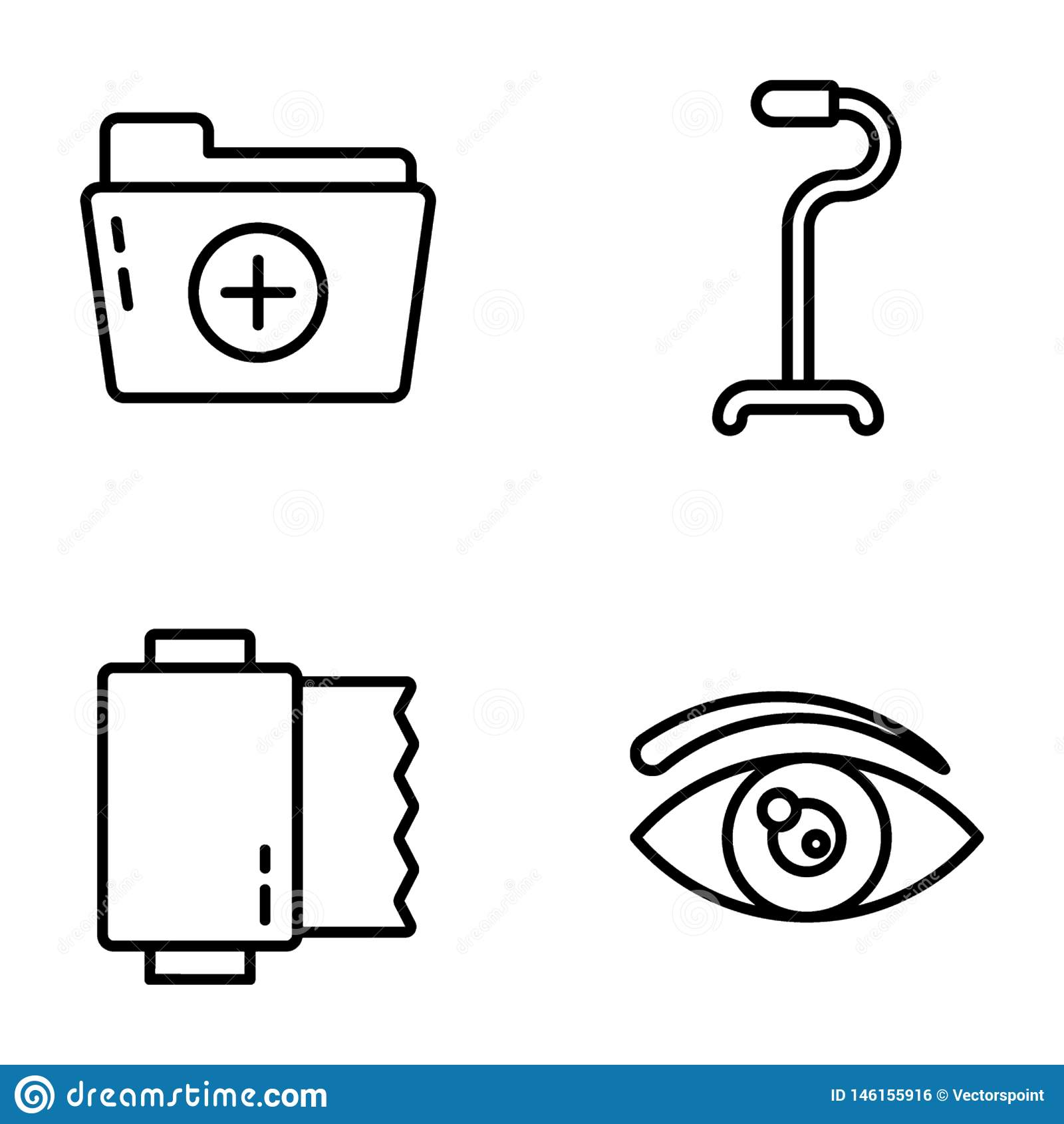 Medication Line Vector Icons Collection