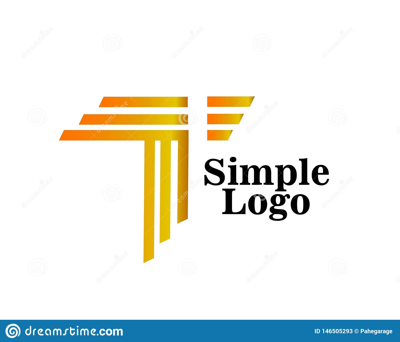 Simple logo abstract artistic icon