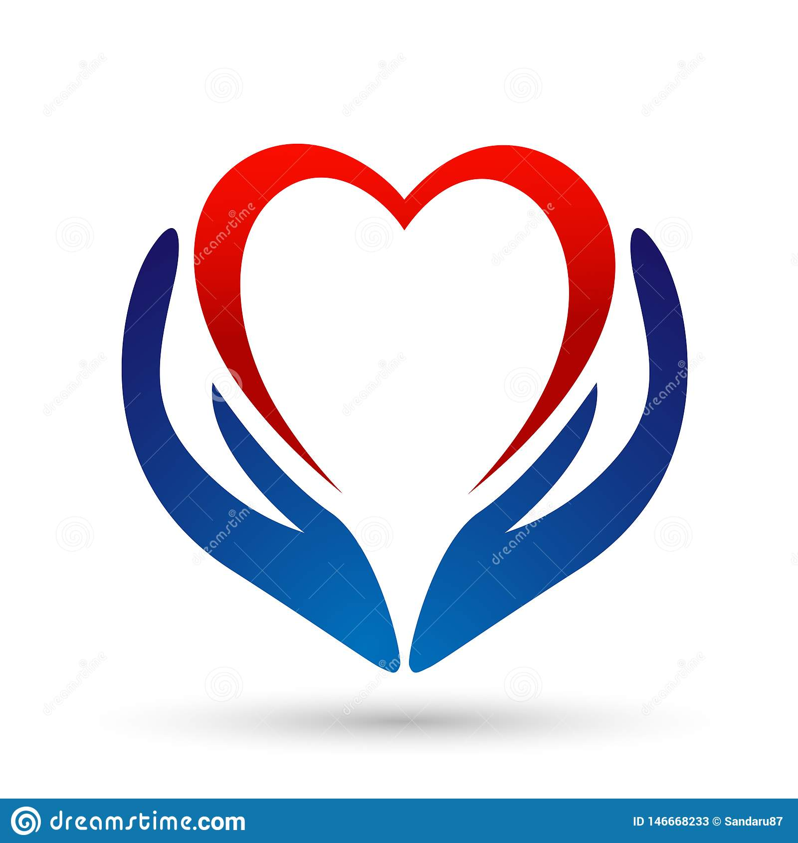 Medical health heart care clinic people healthy life care logo design icon on white background