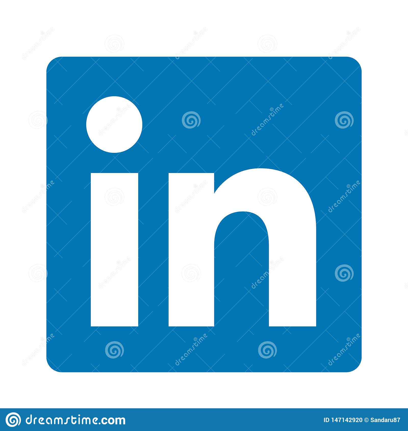 LinkedIn social media original logo icon logo vector element on white background