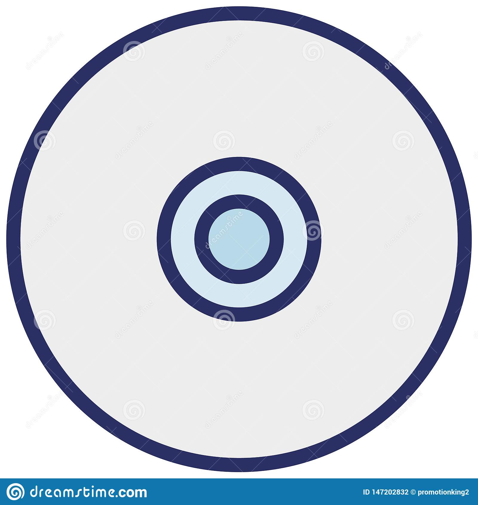 Cd Isolated Vector Icon which can easily modify or edit