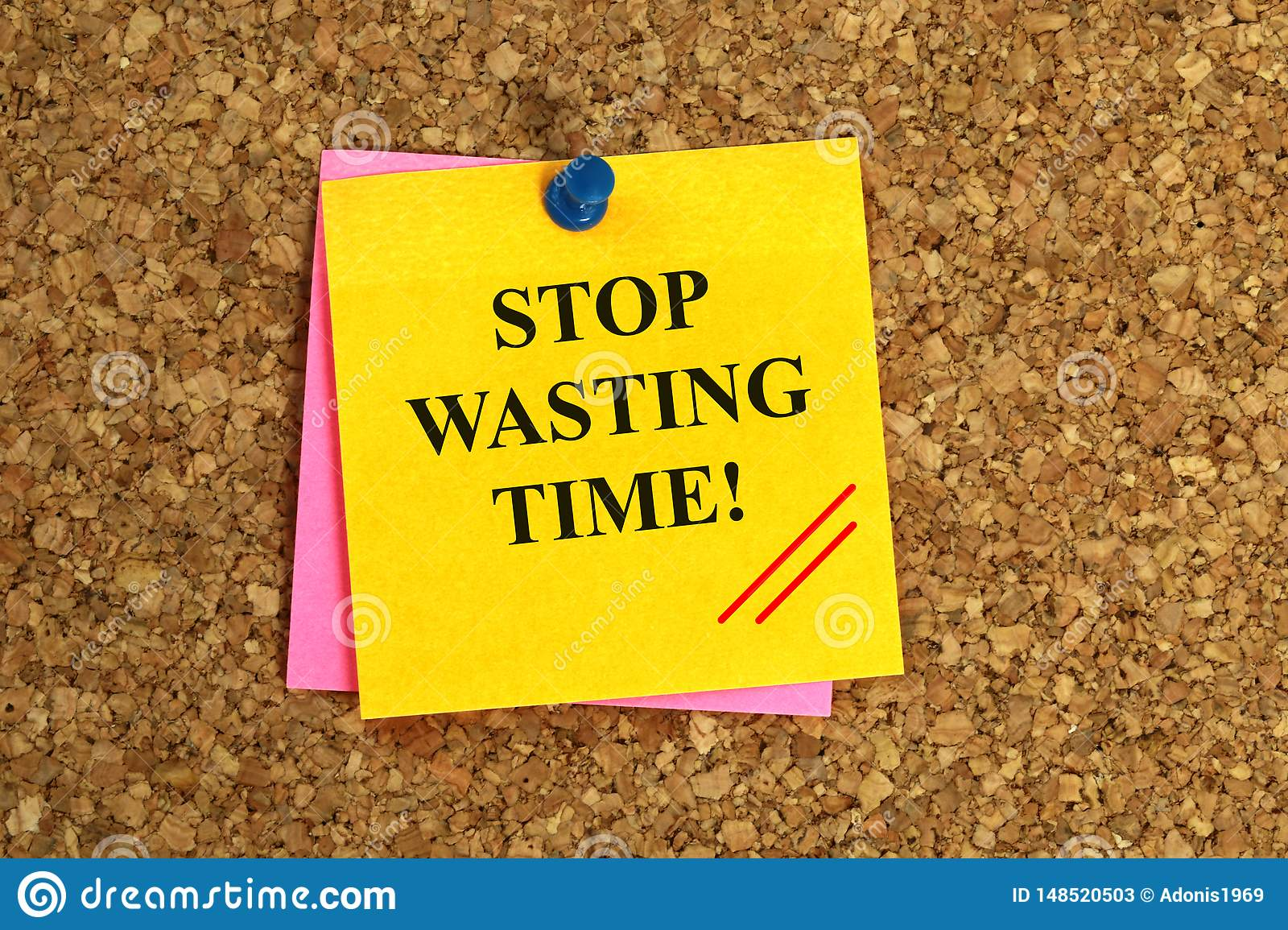 Stop wasting time illustration