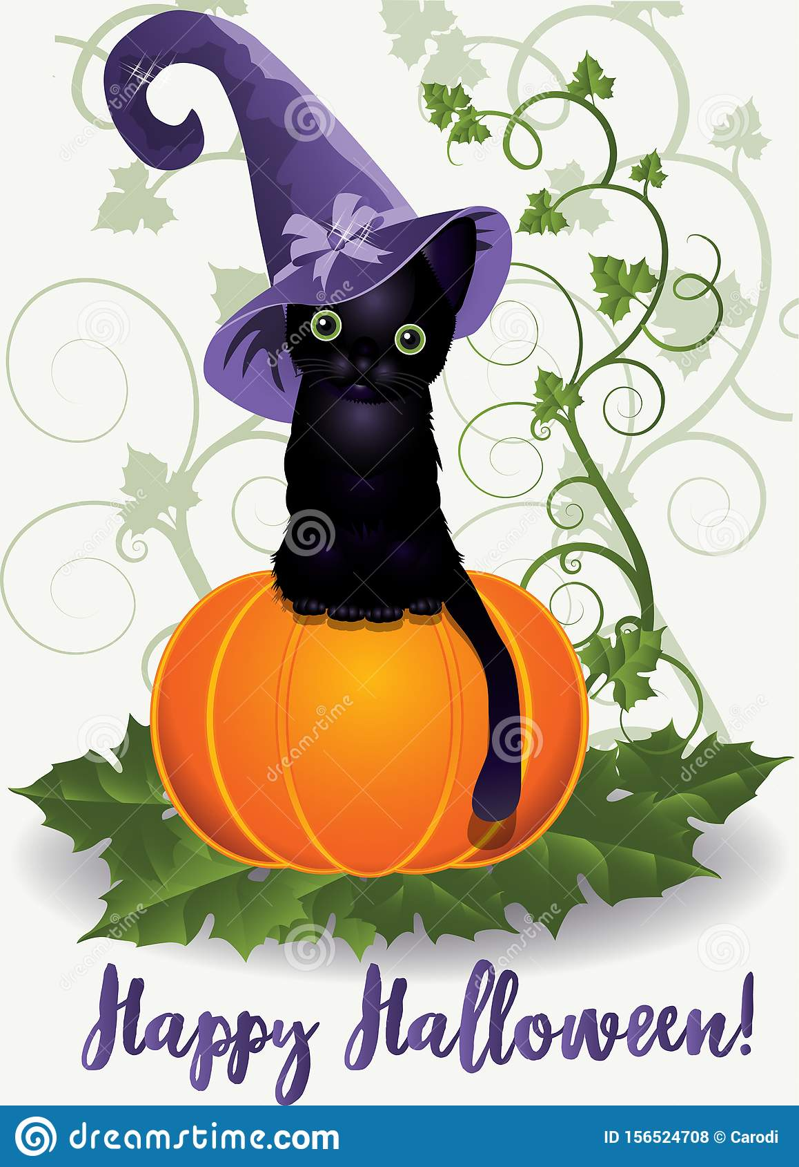 Happy Halloween Wallpaper. Witch Black ...
