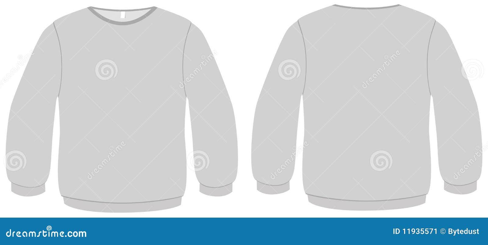 Basic Sweater Template Vector Illustration Stock Vector