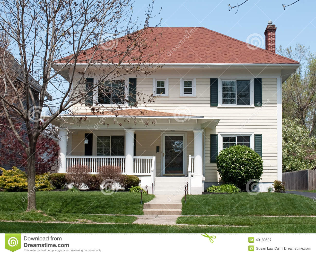 Basic two story house stock photo image 40180537 for Moderate house plans