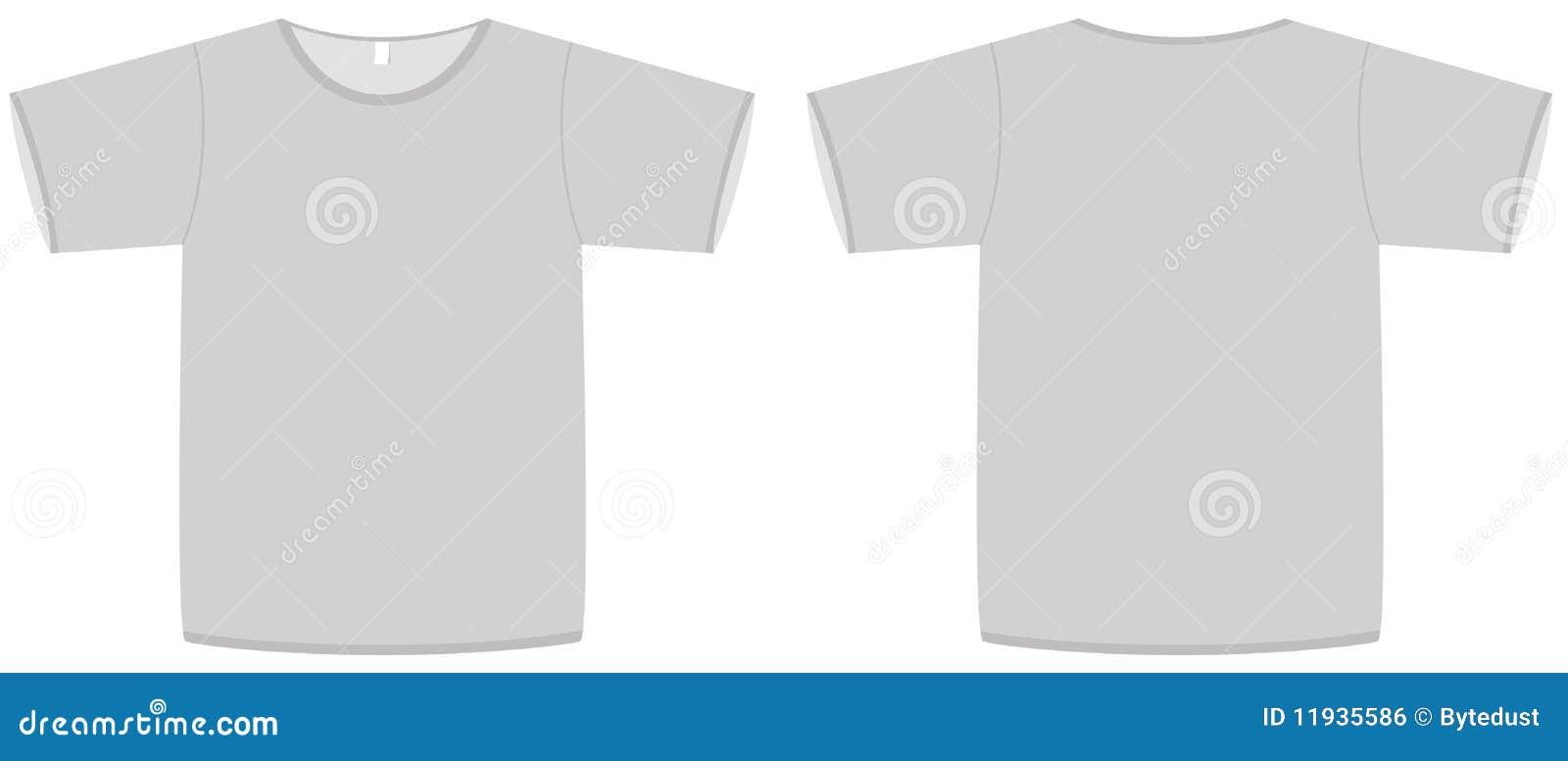 Basic Unisex T-shirt Template Vector Illustration Stock Vector ...