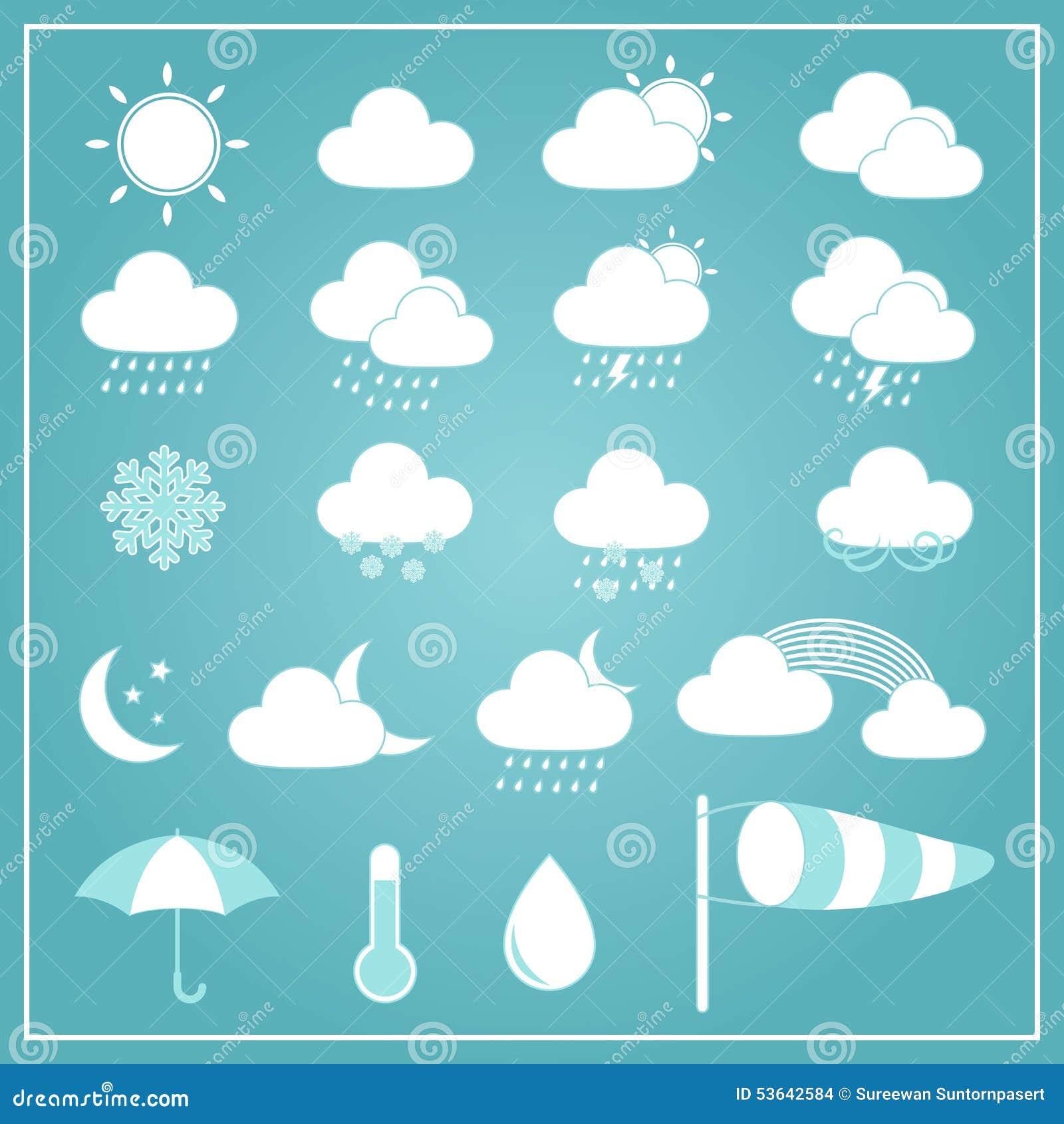 Basic weather icons on blue background stock vector illustration basic weather icons on blue background biocorpaavc Images