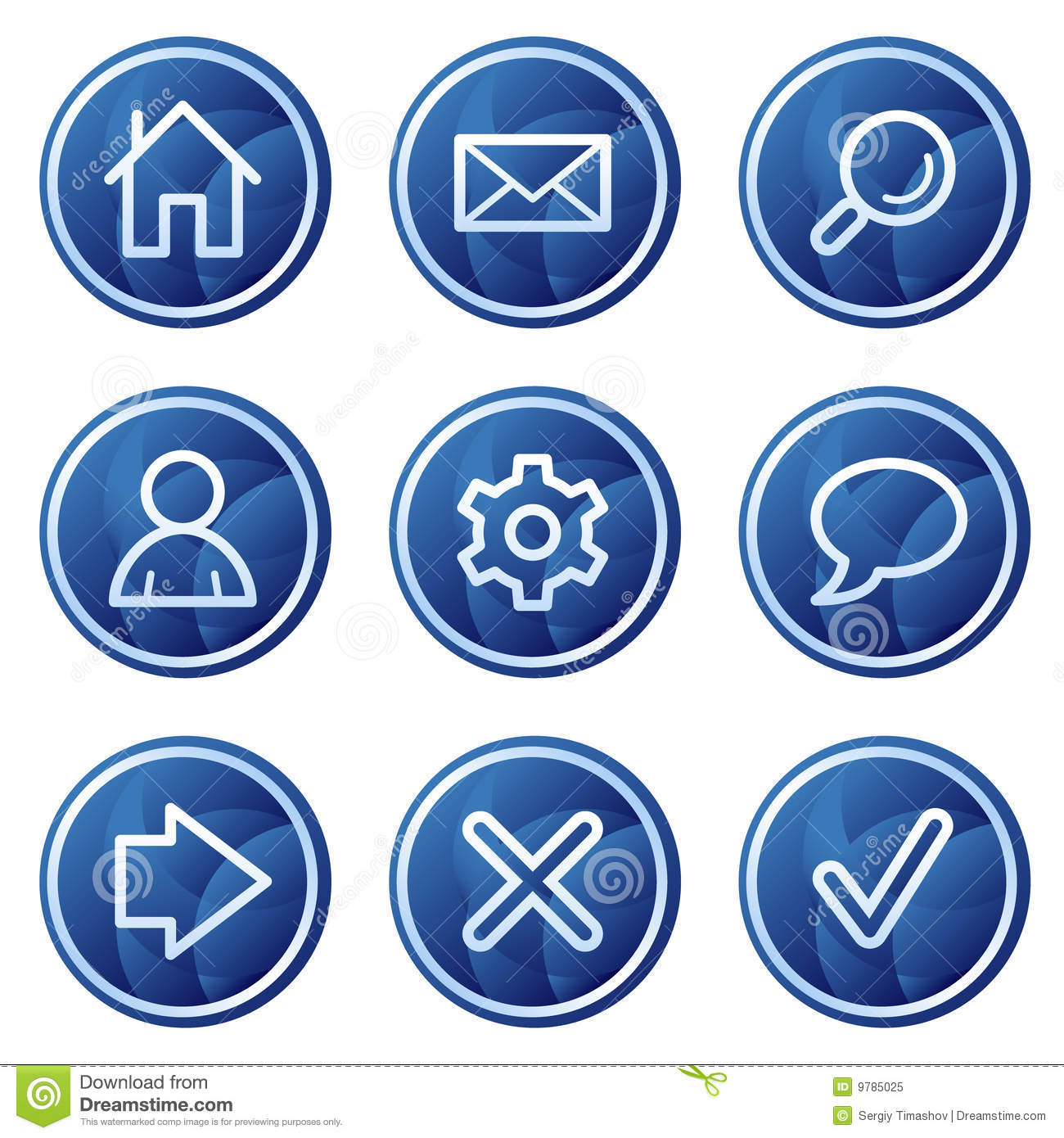 Basic Web Icons, Blue Circle Buttons Series Stock ...