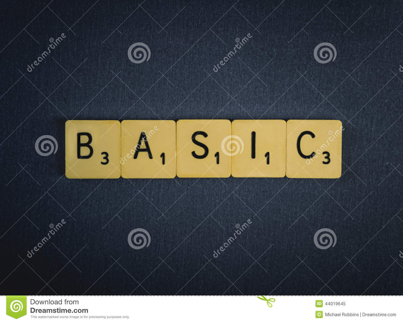 BASIC Stock Photo - Image: 44019645